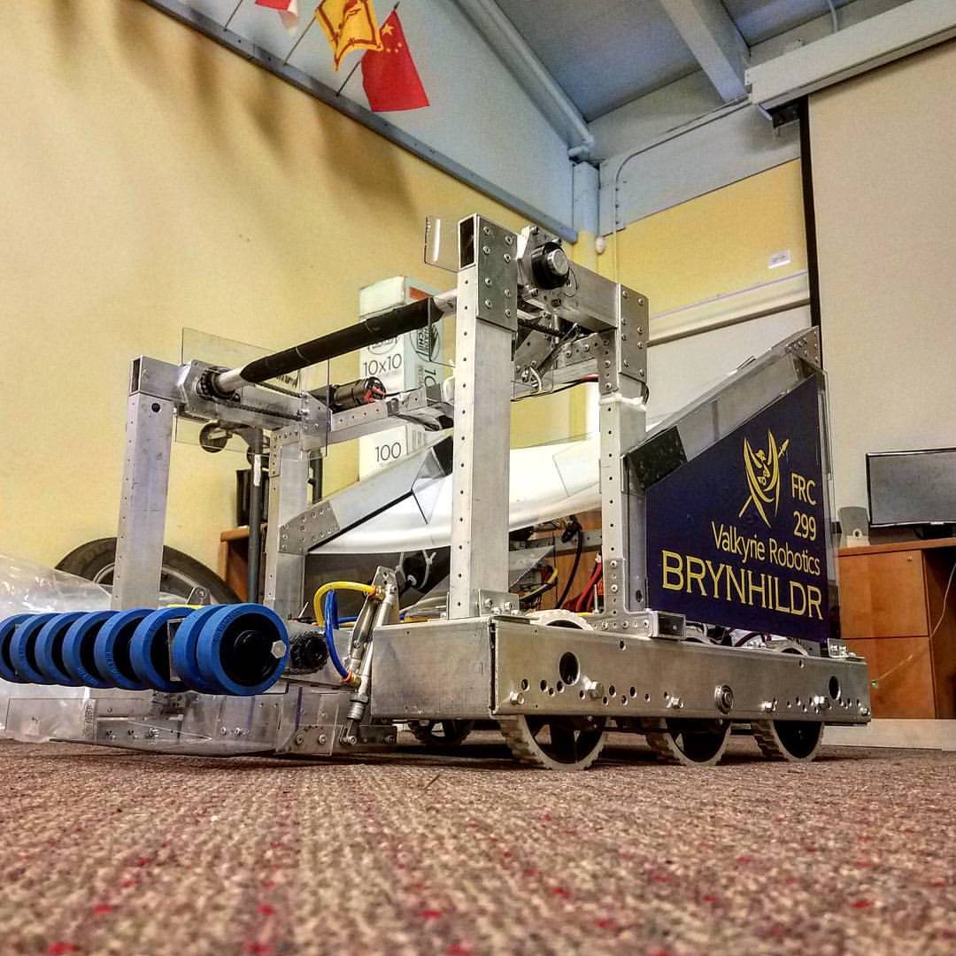Our robot Brynhildr at the shop